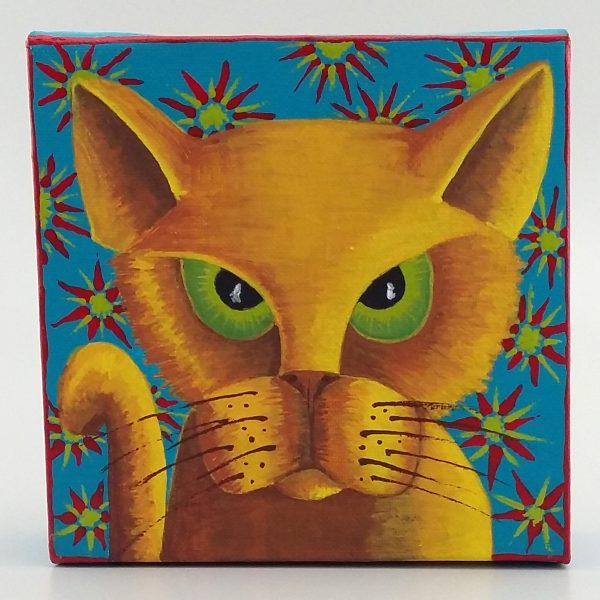 angry cat painting