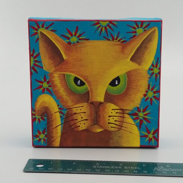green eyed cat painting