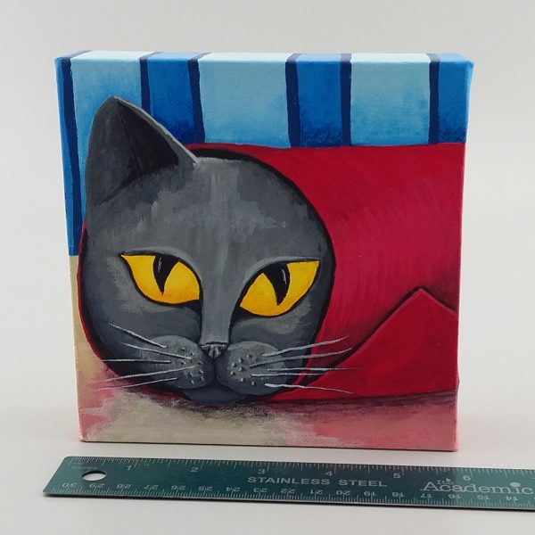cat in tube painting