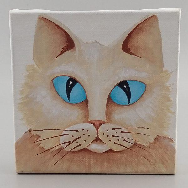 blue eyed cat pianting
