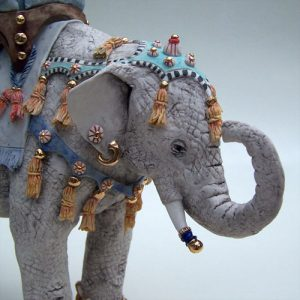 Porcelain elephant detail