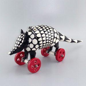 black and white armadillo