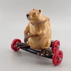 beaver on wheels