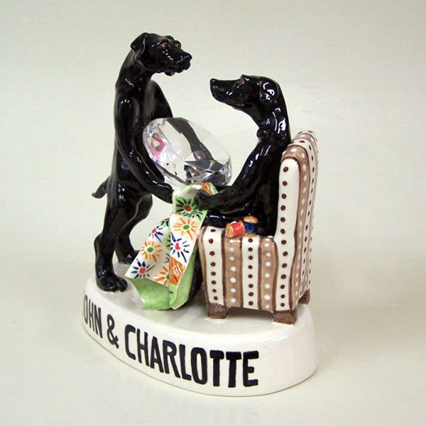 commission sculpture dog proposal by diamond