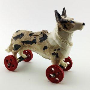 commission sculpture dog named biscuit