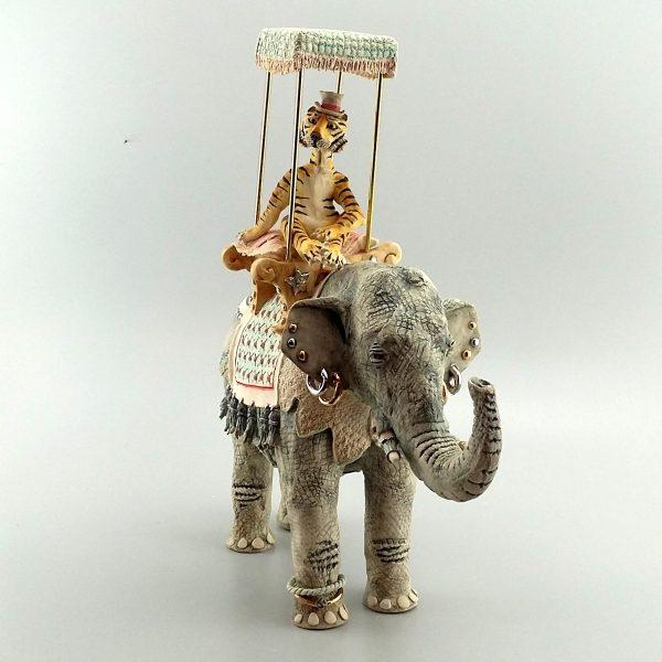porcelain tiger elephant