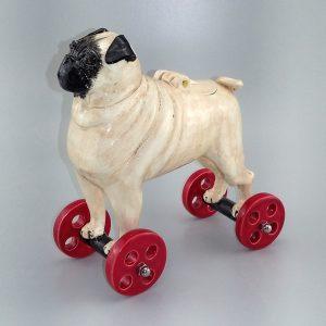 pug on wheels