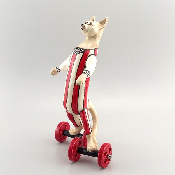 running marmalade cat