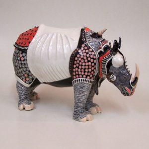 Durer's Rhino. 19x9x10