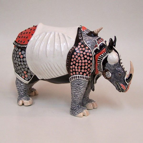 sold clay sculpture duhrers rhinoceros