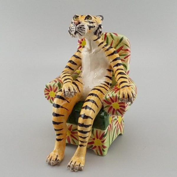 tiger in green chair