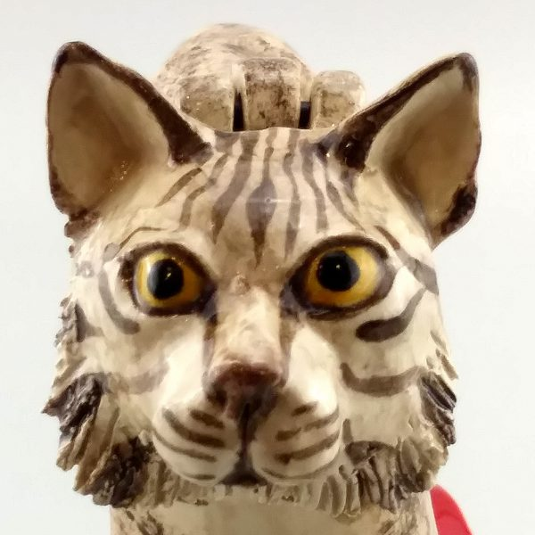 whimsical clay sculpture bobcat