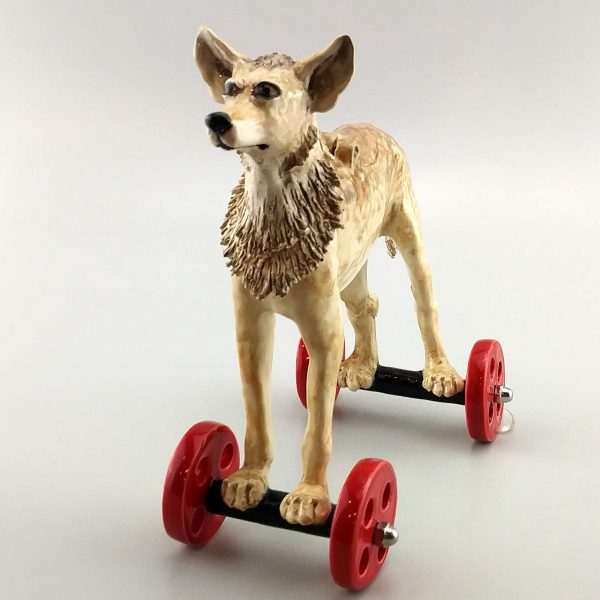 whimsical clay sculpture coyote