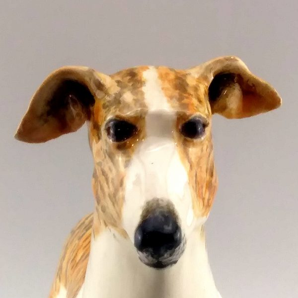 clay sculpture greyhound
