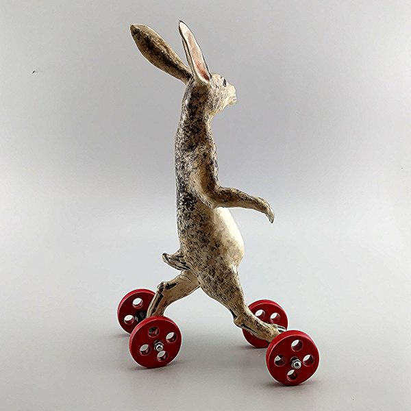 whimsical clay sculpture jack rabbit