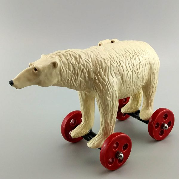whimsical clay sculpture polar bear